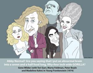 Young Frankenstein (Gene Wilder, Terri Garr, Marty Feldman, Madeline Kahn & Peter Boyle)